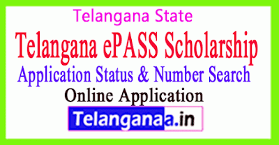 Telangana ePass Scholarship Application Status Number Search