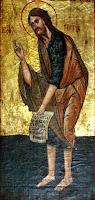 Sfantul Ioan Botezatorul, icoana pe lemn