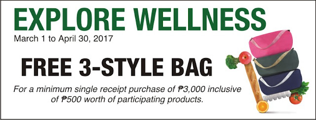explore wellness free 3 style bag
