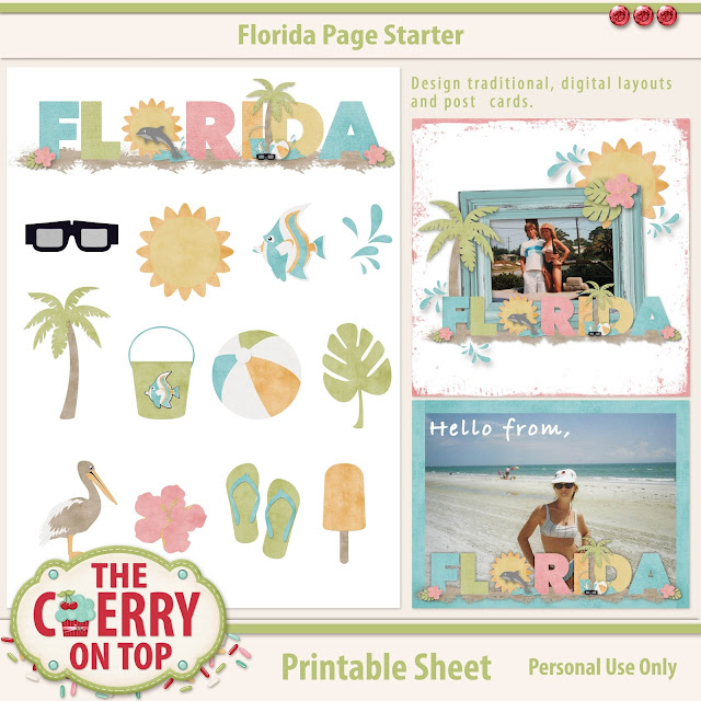 Florida Page Starter Scrapbooking Kit