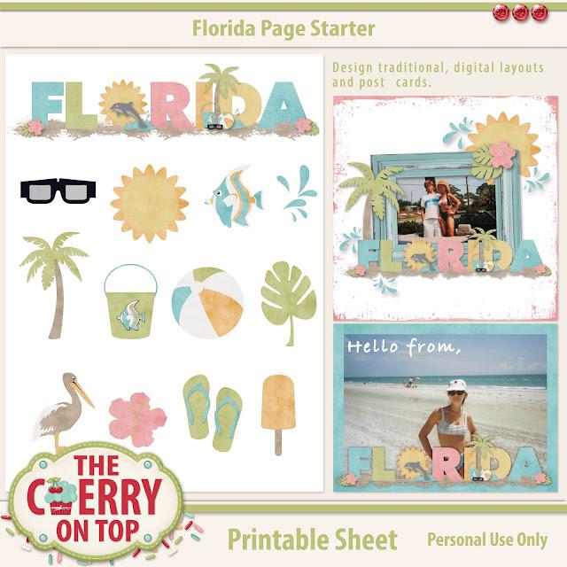 Florida Page Starter Scrapbooking Kit