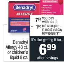 Benadryl Allergy