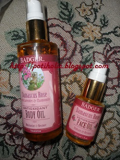 badger balm damascus rose 30 ml facial vs 120 ml corporal