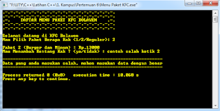 Screenshot Run Program 6