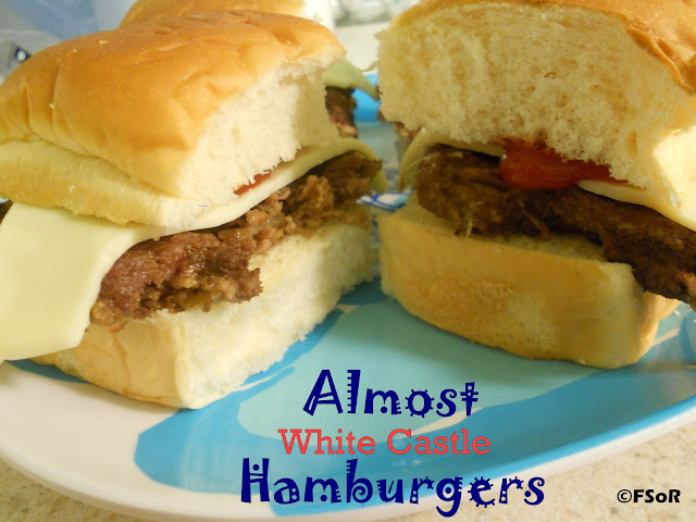 Almost White Castle Hamburgers | These little burgers are just like the real thing (White Castle/Krystal's) and you can freeze them for a quick snack/meal! #recipe #copycat #WhiteCastle