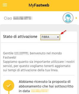 Selettore stato attivazione app