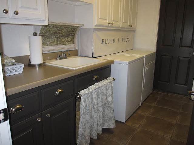 fabric to hide washer and dryer