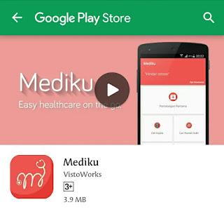Lima fitur kesehatan aplikasi mediku