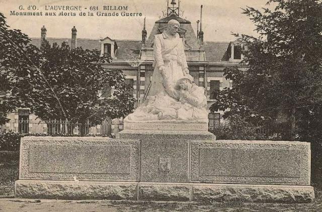 CPA monuments aux Morts du Puy-de-Dôme, Billom