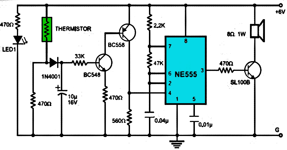 Fire Alarm Using Ne555 And Temperature Sensor