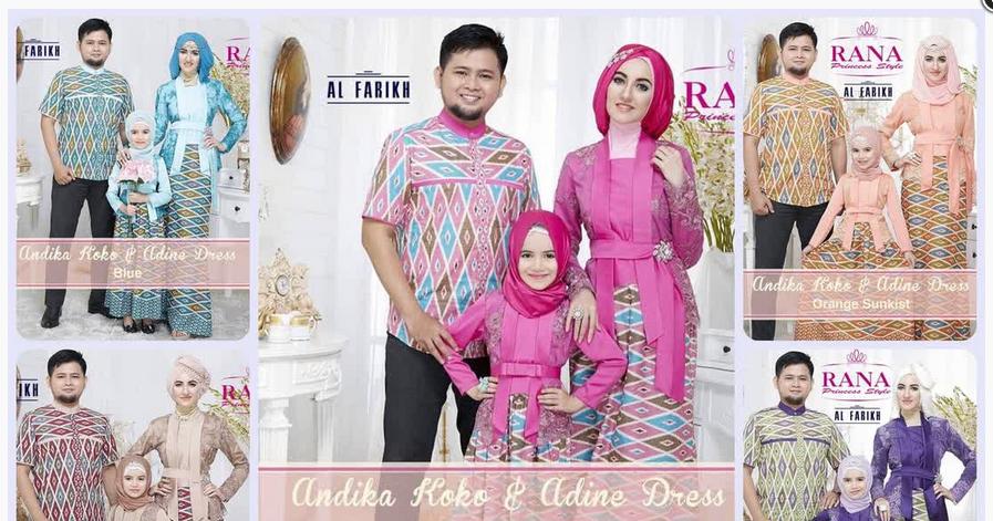 15+ Model Baju Muslim Pasangan Suami Istri dan Anak 2017