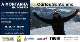 Evento de montanhismo em Teresópolis com homenagem à Mozart Catão e Carlos Santalena autografando seu livro dia 18 de junho