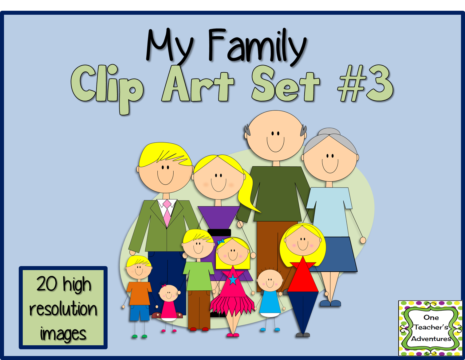 http://www.teacherspayteachers.com/Product/My-Family-Clip-Art-Set-3-1393379