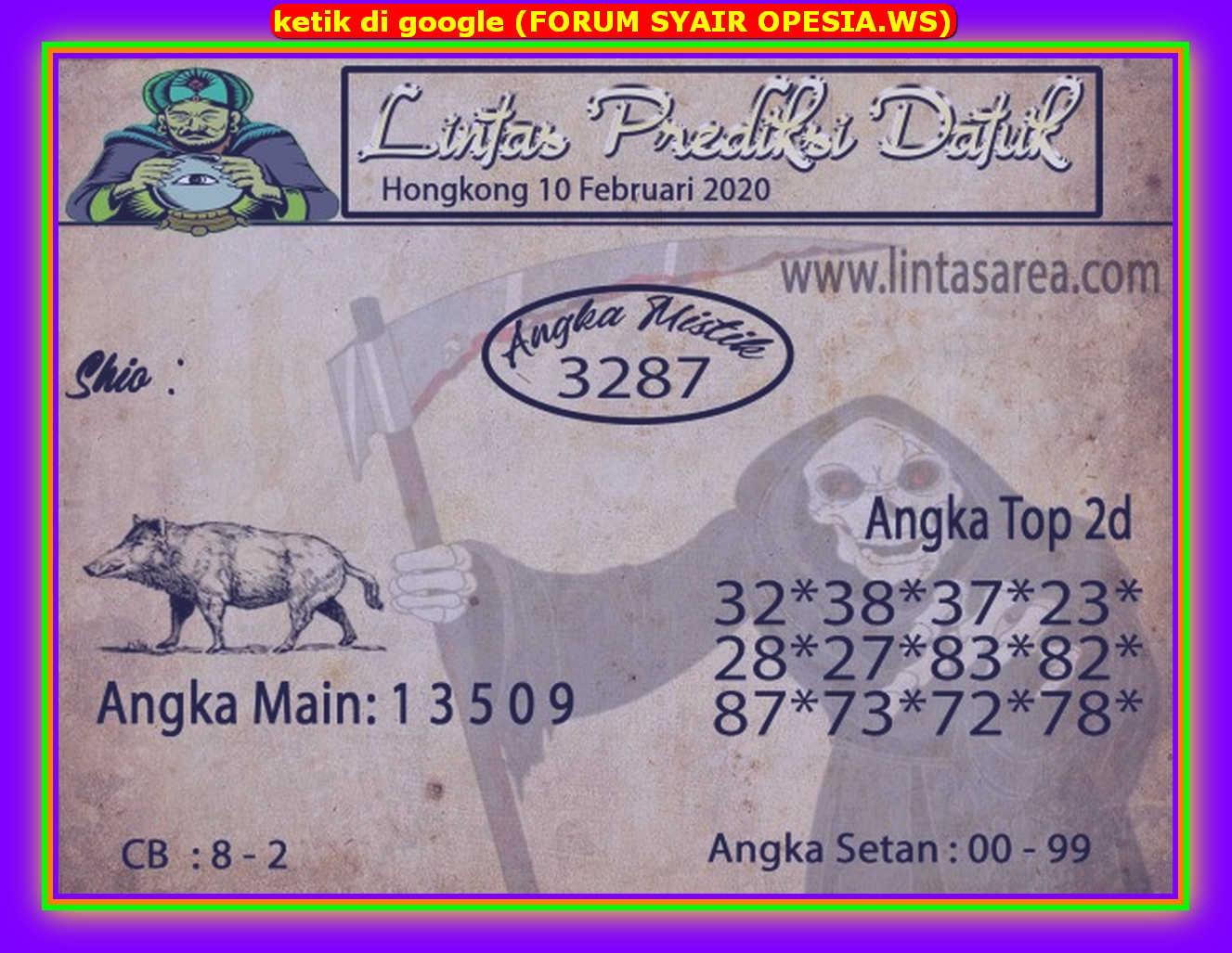 Kode syair Hongkong Senin 10 Februari 2020 173