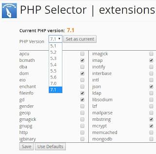 Ganti Versi PHP