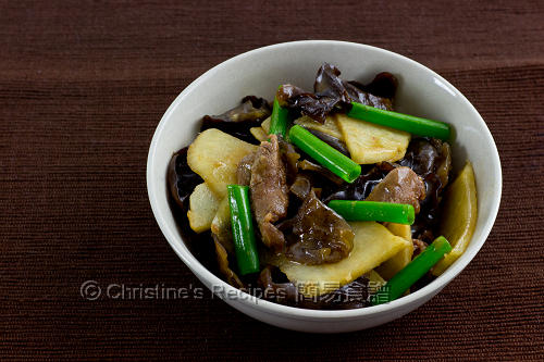 沙葛炒雲耳牛肉 Stir-Fried Yam Bean with Beef and Cloud Ears02