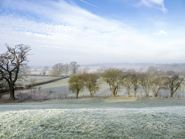 Pintails and People - A frosty view out over the Ouse Valley in Old Wolverton