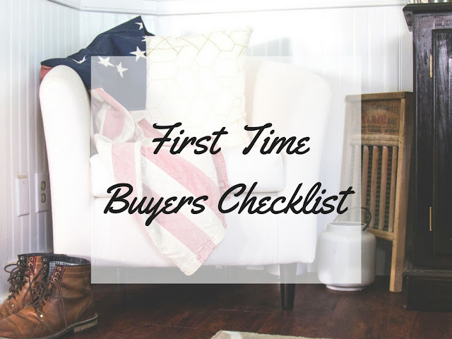First Time Buyers Checklist