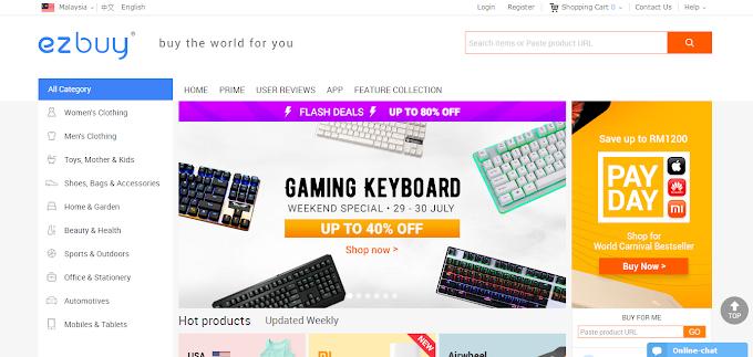 Shopping Online Di ezbuy.com Dengan Harga Serendah RM0.01!