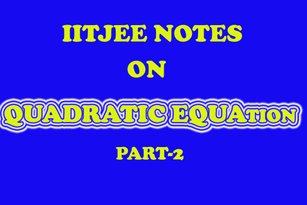 quadratic equation notes