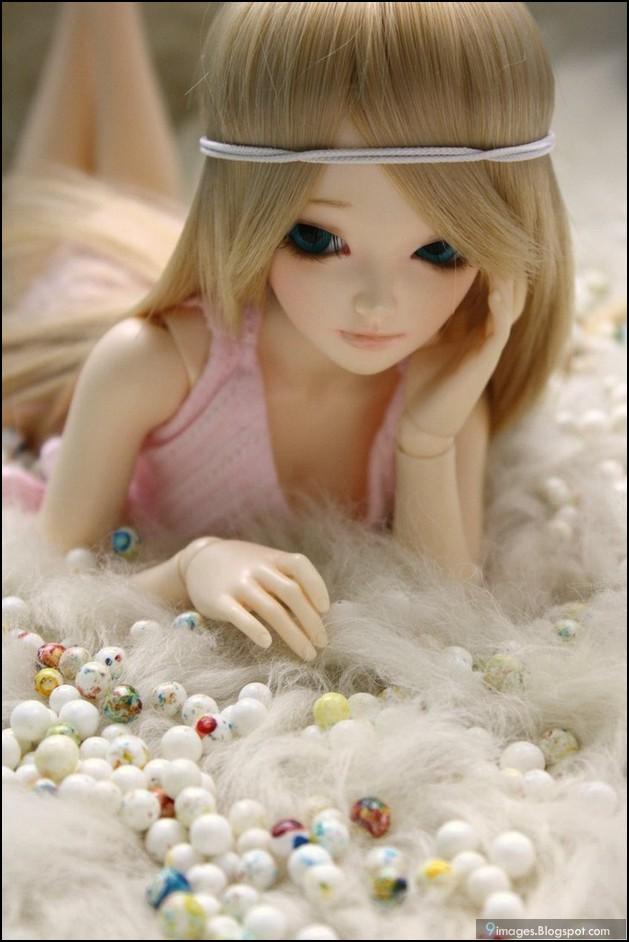 Doll Alone Cute Sad Bed Girl