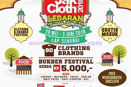 Jakcloth Bandar Lampung Lap GOR Saburai Edisi LEBARAN 29 Mei - 3 Juni 2018