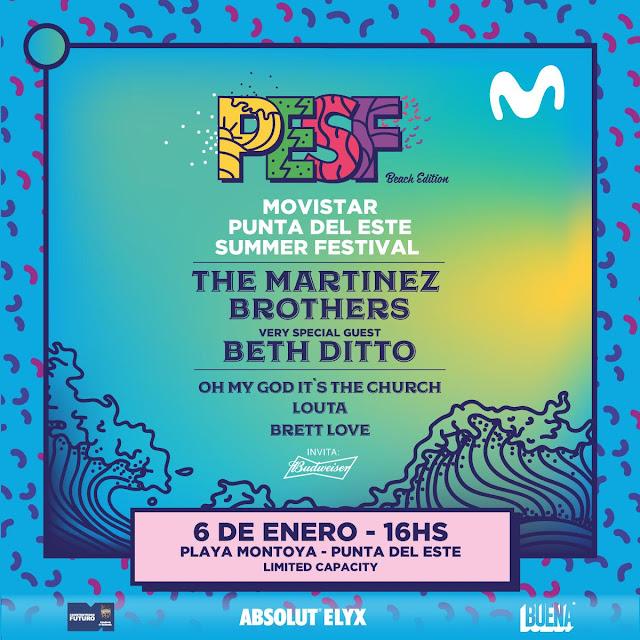 Movistar Punta del Este Summer Festival es el 6 de enero en Playa Montoya