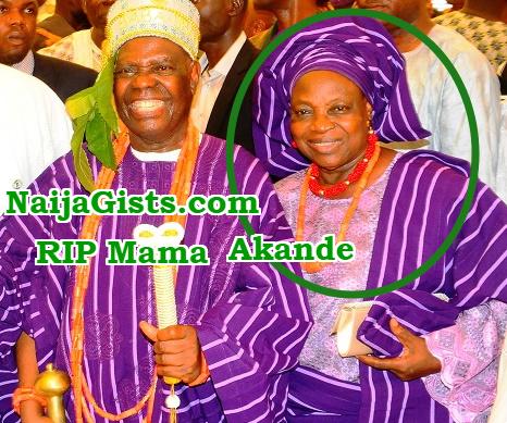 bisi akande wife dies