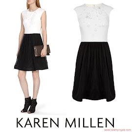 Princess Sofia Style KAREN MILLEN Dress and ACNE Tillie Sandals