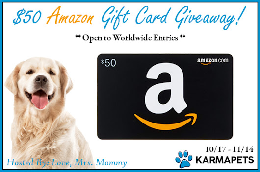 KarmaPets $50 Amazon Gift Card Giveaway! Open to Worldwide Entries!
