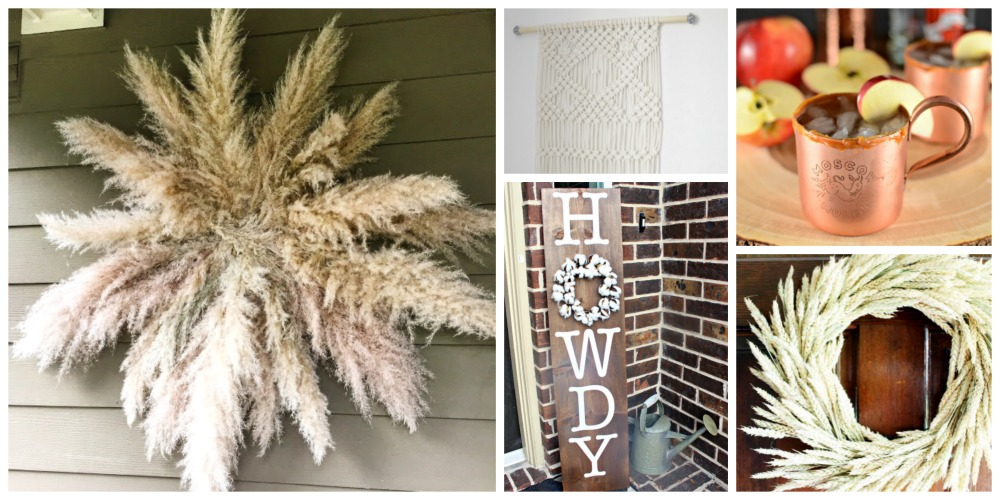 fall wreaths, macrame, signs with vinyl