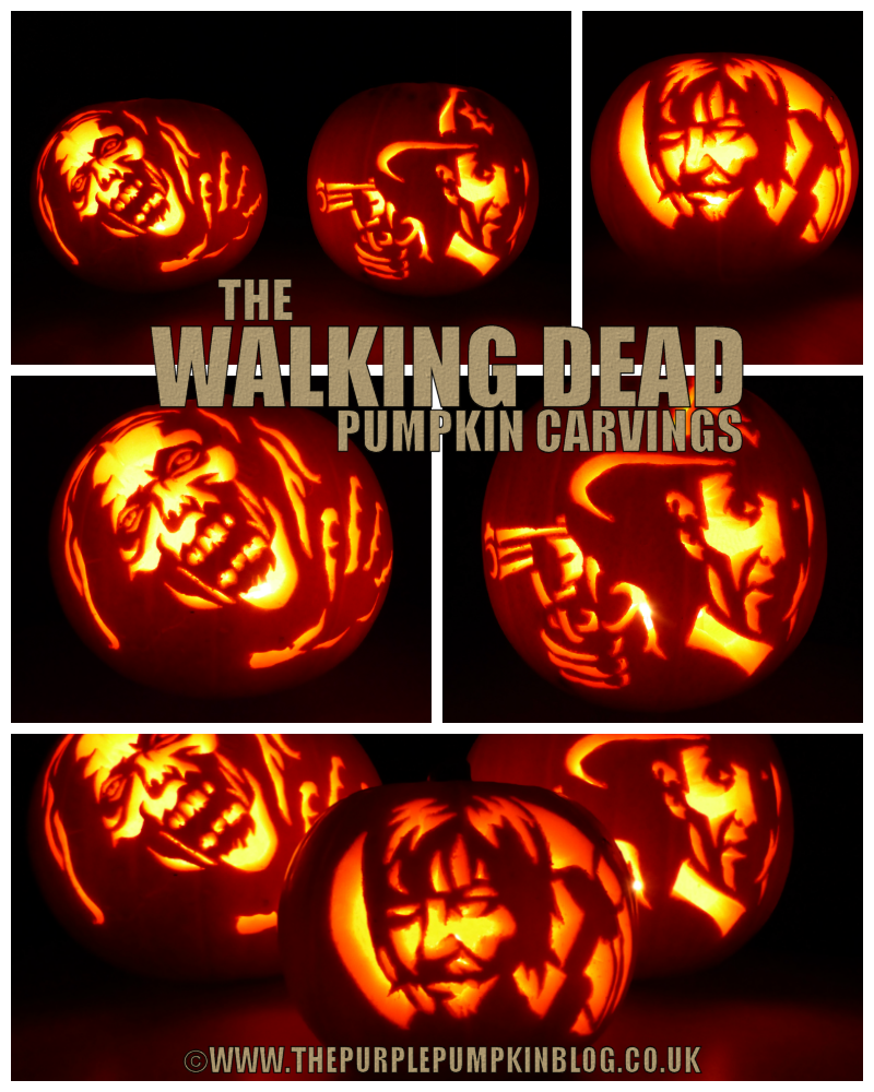The Walking Dead Pumpkin Carvings 2013