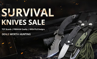 Survival knife sale at GearBest