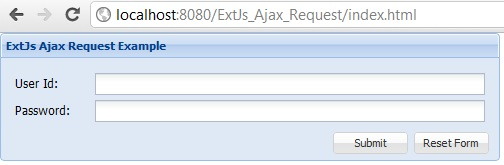 ExtJs 4 Ajax JSON Request and Response example using Java Servlet