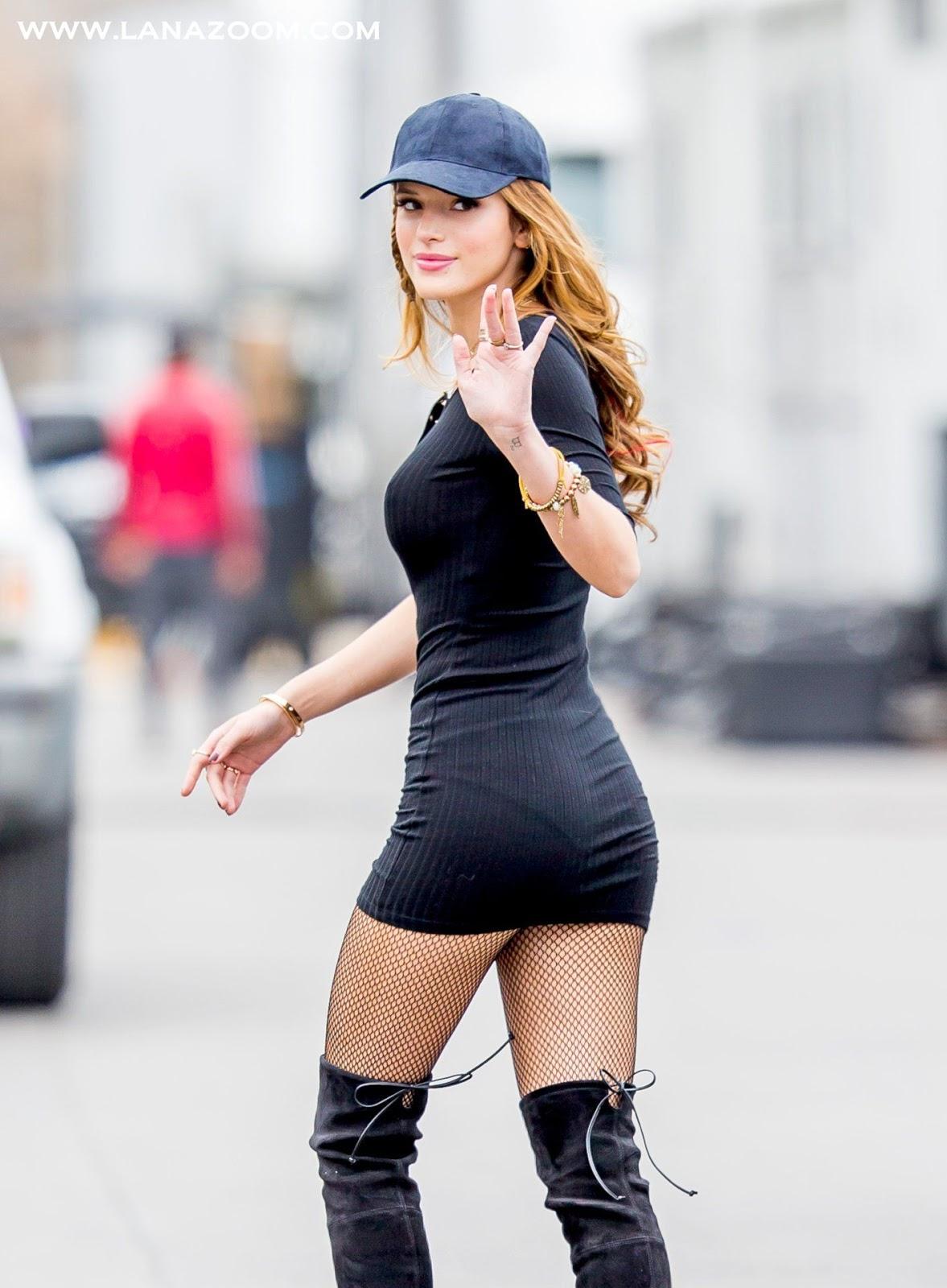 e2f2559dc مجلة لانا زووم: بيلا ثورن بفستان بدون حمالة الصدر ! خلال تصوير فيلم ...