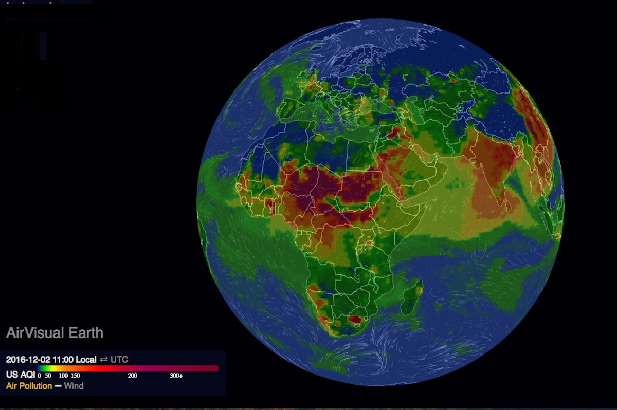 3D map shows extent of air pollution