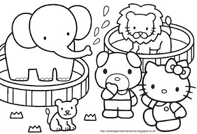 Gambar Mewarnai Hello Kitty (3)