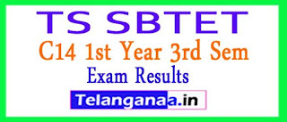 TS SBTET C14 1st Year 3rd Sem 2017 Exam Revised Results