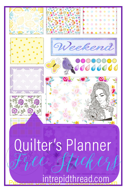 Quilter's Planne Stickers April