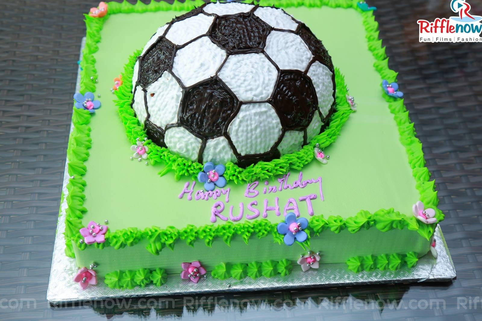 Birthday Name Cake Happy Birthday Rushat Football Cake