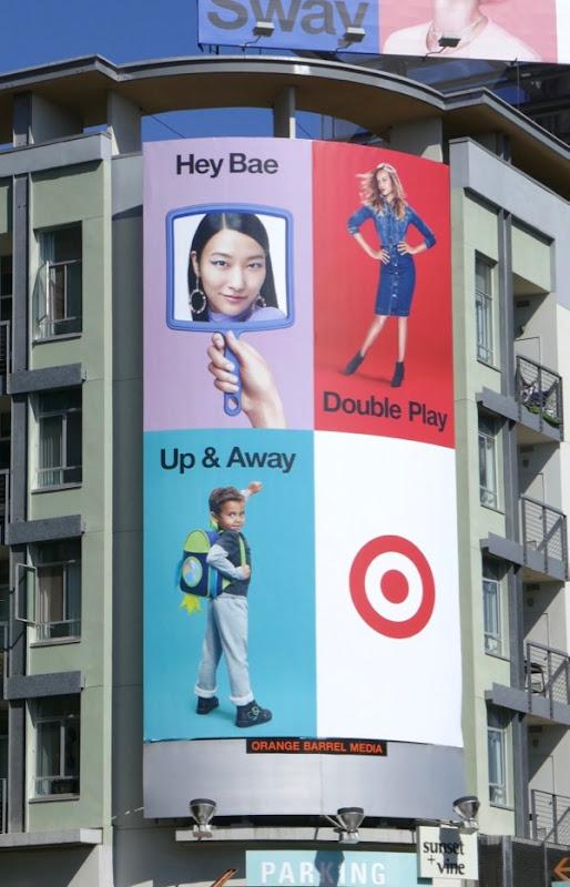Hey Bae Double Play up Away Target billboard