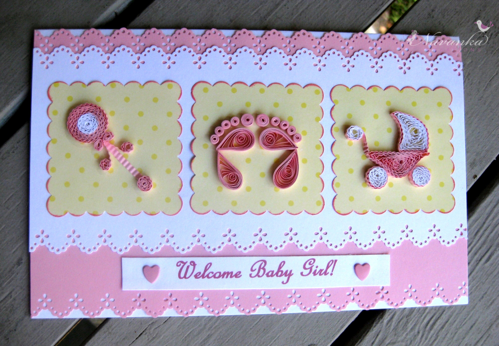 Craft Ideas For All Handmade Welcome Baby Girl Greeting Card With