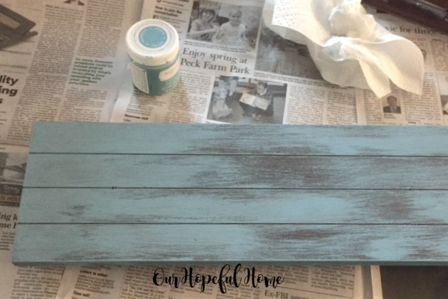 Americana Decor Chalky Finish Paint in Escape rustic sign