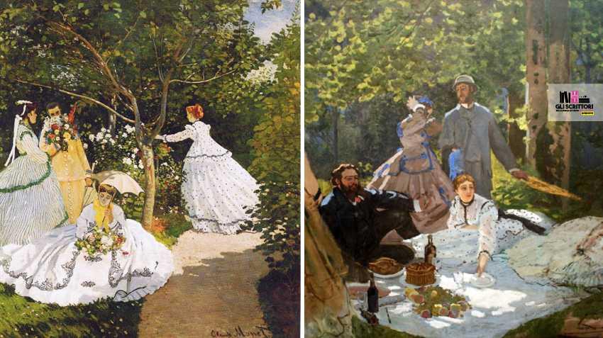 Donne in giardino e Colazione sull'erba
