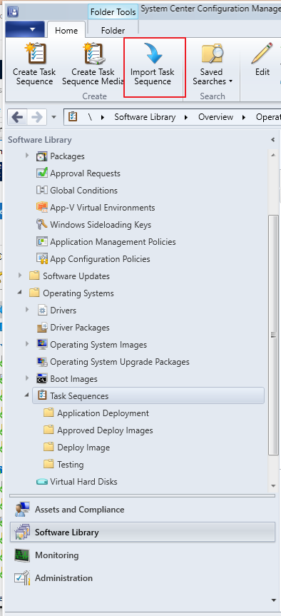 Universal Task Sequence Import - SCCM Task Sequence with a GUI