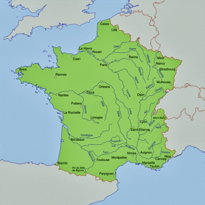 Maps France Rivers