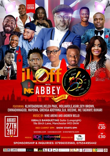 Sun/27/Aug: I Laff with MCAbbey Live in Manchester @ IQBALS BANQUETING Suite