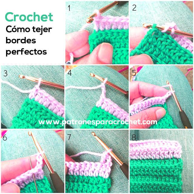 Cómo tejer orillos o bordes perfectos al crochet | Patrones para Crochet