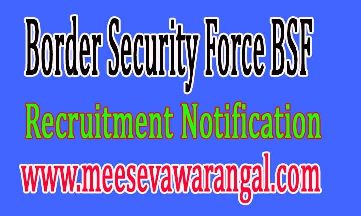 Border Security Force BSF Recruitment Notification 2016