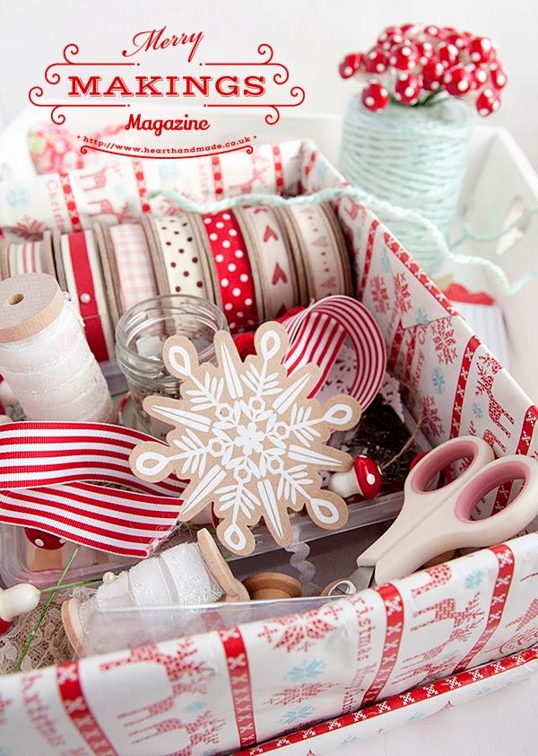 My christmas craft supplies box
